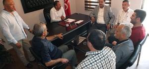 Milas AK Parti'den MHP'ye hayırlı olsun ziyareti