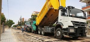 Karaman Belediyesinin asfalt çalışmaları devam ediyor