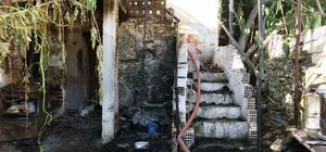 Milas'ta yangın mağduru aileye yardım