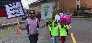 Ağrı'da 'Sağlık İçin Hareket' yürüyüşü