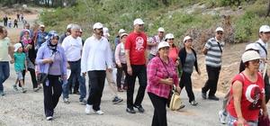 Mezitli Belediyesi, 19 Mayıs'ı doğa yürüyüşüyle kutladı
