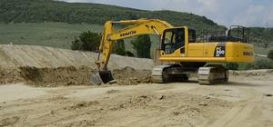 Emet'in köy yollarında bakım, onarım ve sıcak asfalt çalışmaları