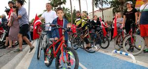 Marmaris'te 11 kilometrelik bisiklet yolu açıldı