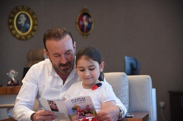 7 yaşında yazardan Başkan Doğan'a ziyaret