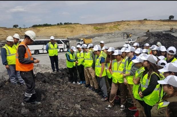 Öğrenciler madencilik mesleğini inceledi