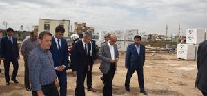 Vali Demirtaş, yapımı devam eden okul inşaatında incelemede bulundu