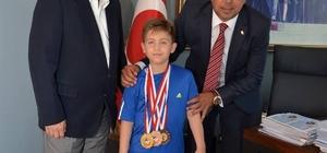 Başkan Demirağ, karateci şampiyonu misafir etti