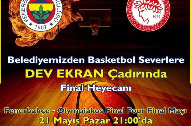 Sultangazi'de dev ekranda Fenerbahçe-Olympiakos finali heyecanı