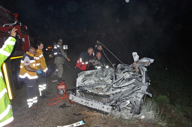 Adıyaman'da trafik kazası: 3 ölü, 1 yaralı