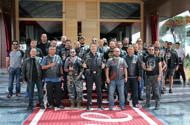 Harley Davidson tutkunları Antalya'da buluştu