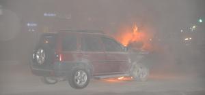 Antalya'da araç yangını