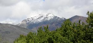 Erzincan'da yüksek kesimlere kar yağdı