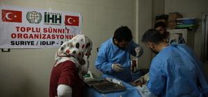 Suriye'de bin 100 çocuk sünnet ettirildi