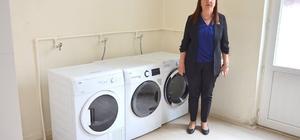 Kadın başkandan çamaşırhane
