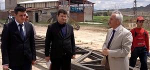 İncesu Belediyesi hayvan satış yerinin inşaatına başladı