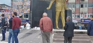 Sakarya'da Atatürk heykeline saldırı