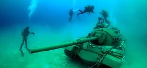 45 tonluk tank Güvercin Adası'na taşındı