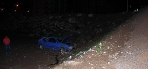 Otomobil bahçeye düştü: 3 yaralı