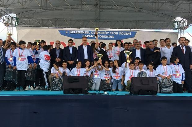2'nci Geleneksel Çekmeköy Spor Şöleni kapanış töreni gerçekleştirildi