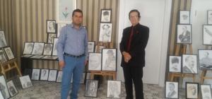 Germencik Türk Kültür Evinde kara kalem resim sergisi
