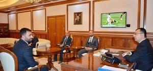 Başkan Samanlı Vali Toprak'ı ziyaret etti