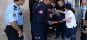 Asansör kabininin altında kalan işçi yaralandı