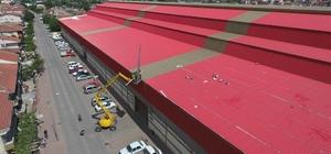 Çan Belediyesi kapalı Pazar yeri güçlendiriliyor
