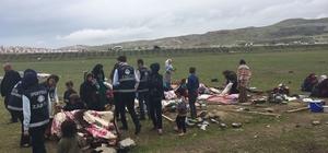 İpekyolu Belediyesinden seyyar satıcı ve çadır operasyonu