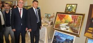 Erzin Halk Eğitim Merkezi yıl sonu sergisi açıldı