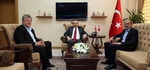 MHP İl Başkanı Bekir Kasap, Vali İsmail Ustaoğlu'nu ziyaret etti