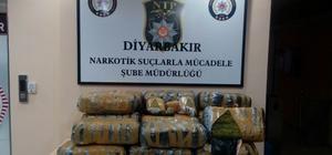 Diyarbakır'da 138 kilogram esrar ele geçirildi