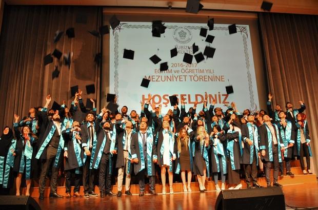 NEÜ Turizm Fakültesi öğrencilerinin mezuniyet heyecanı