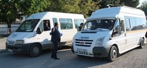 Sungurlu'da öğrenci servisleri denetöendi