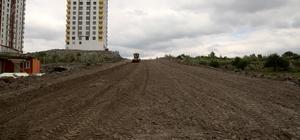 Mevlana Mahallesi'ne yeni açılan bağlantı yolu asfaltlanıyor