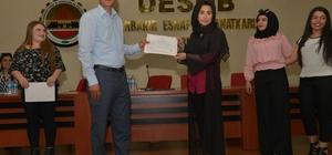 Tekstil eğitimini tamamlayan 150 kadına sertifika verildi