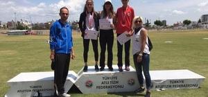 Edanur, atletizmde Türkiye birincisi oldu