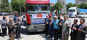 Kütahya'dan Suriyelilere yardım