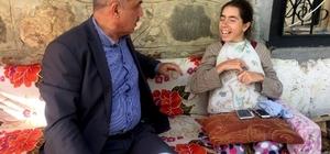 Ilıcalı'dan engelli kadına ziyaret