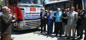 Kütahya'dan Suriye'ye 7 tır un yardımı