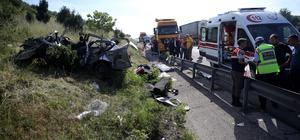 Düzce'de trafik kazası: 4 ölü, 1 yaralı