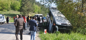 Bolu'da otobüs dere yatağına düştü: 7 yaralı