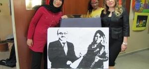 İlçe Milli Eğitim Müdürünü resmeden tablo, benzerliğiyle şaşırttı