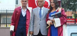 Öğrenciler diplomalarını Başkan Karabağ'dan aldı