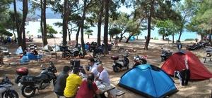 250 Motorcu Kumluca'da kamp yaptı