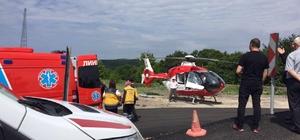 Bulgaristan'da yaralanan Türk, hava ambulansıyla İstanbul'a nakledildi