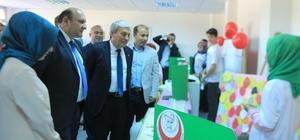 Şehit Osman Er İmam Hatip Ortaokulu TÜBİTAK Bilim Fuarı sergisini açtı