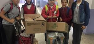 Öğrenciler biriktirdikleri paralarla erzak yardımı yaptı