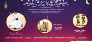 Ramazan ayının keyfi 67 Burda AVM'de yaşanacak