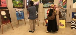Tokat'ta lise öğrencilerinden resim sergisi