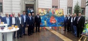 Reşadiye'de 'Renkli Dokunuşlar' adlı resim sergisi açıldı